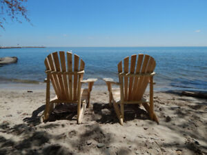 Beautiful Canadian Made Cedar Muskoka Chairs and More