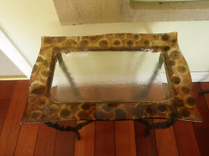 2 glass and wrought iron tables Kingston Kingston Area image 2