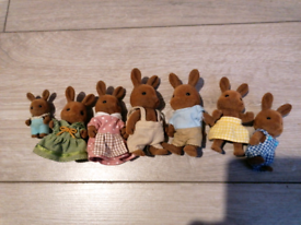 Sylvanian brown rabbit family x 7