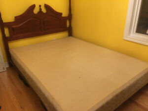 Free bed frame, head board and box spring