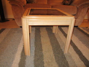 Glass top end tables Kitchener / Waterloo Kitchener Area image 3