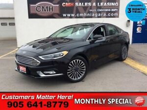 2017 Ford Fusion SE  AWD LEATH NAV ROOF CAM P/SEATS MEM HS PARK-