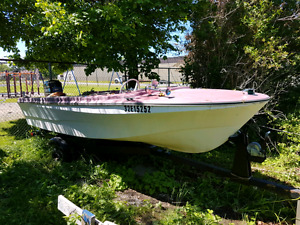 1973 Chrysler flamingos boat 65 hp
