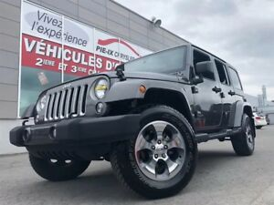 Jeep Wrangler Unlimited 4WD 4dr Sahara+2TOIT+NAV+MAGS+BLUETOOTH+