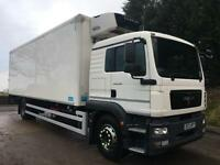 2012 12 MAN TG-M 18.250 sleeper cab 26ft solomon fridge box carrier 850 unit
