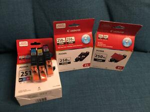 Canon Pixma Printer Ink for sale PGI-250XL Black and CLI-251 Col