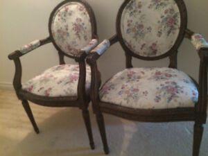 Antique chairs Reupholstered and refinished