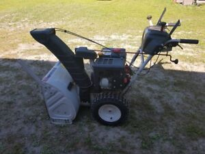"""26"""" WHITE Snowblower - electric start - works great"""