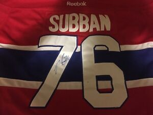 Signed PK subban jersey (Montreal Canadiens)