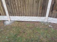 Free! Rock face concrete gravel board.