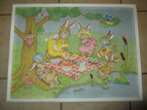 Very cute quilted bunny picture Kitchener / Waterloo Kitchener Area image 1