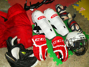 equipement hockey  complet  ccm bauer graf......