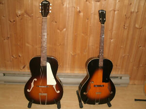 PACKAGE DEAL -1957 KAY & 1930 KALAMZOO ARCHTOPS - 1-506-386-1210