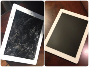 IPAD GLASS REPAIR ( CRACKED YOUR SCREEN WE CAN FIX IT )