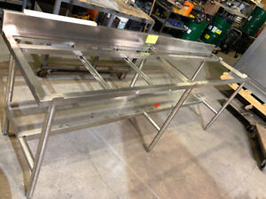 Stainless Steel tables $ 450  Each