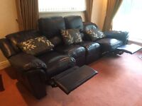 Leather L- Shape reclining sofa