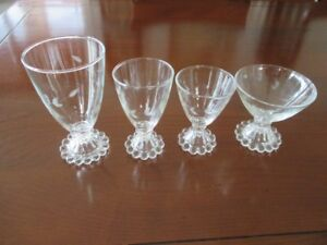 24 verres Anchor Hocking Boopie Berwick Crystal 1950's