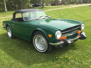 "74 Triumph TR6 British racing green ""safetied"""