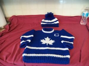 toronto maple leafs toddler sweater size 2