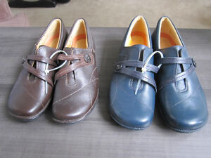 Clarks Unstructured Leather shoes, Br. New, size  9:REDUCED