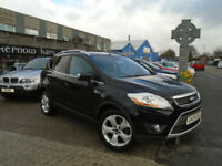 2009 (09) FORD KUGA 2.0TDCi TITANIUM H/Leather Black Manual DAB Radio FSH
