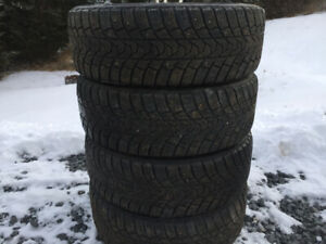 Four 205/60R16 Winter Tires