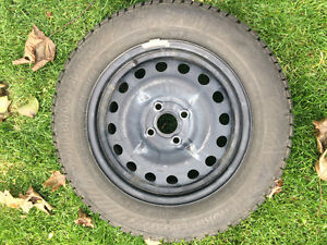 Gislaved Nordfrost 100 92T XL 185/65/15 - tires and steel rims Kitchener / Waterloo Kitchener Area image 2