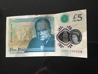 New style £5 note.......rare