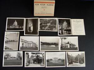 1928 WASHINGTON D.C., real photo pack, AGFA ANSCO promotion