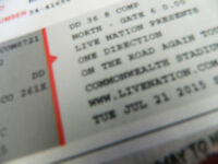 Two Tickets One Direction Commonwealth Stadium July 21 Row DD