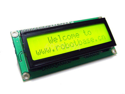 New Yellow Iici2ctwi 1602 Serial Blue Backlight Lcd Display For Arduino