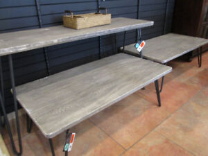Weather Oak Consoles and Coffee Tables