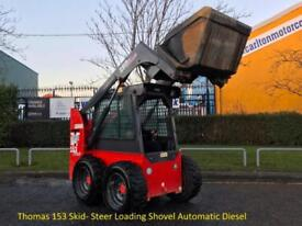 2006 Thomas 153 Skid- Steer Loading Shovel Automatic Diesel Low Hours 1,874