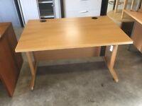 Straight 1600 and 1200 oak office desks