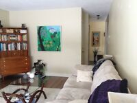 Sunny two bedroom lower suite for rent Oct 1