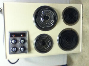 Counter top electric range.