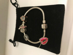 Sterling Silver Chamilia Charm Bracelet and Charms