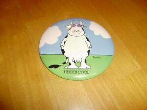 VINTAGE COW BADGE