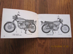 1972 Honda CB 350 Owners Manual Sarnia Sarnia Area image 3