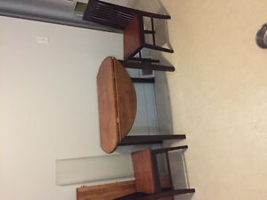 Cherry wood tables and chairs