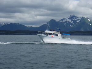 Best 35' Boat with Jet Skiff for SE Alaska Exploring & Fishing