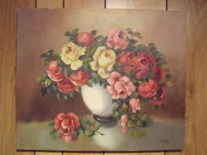 tableau à l'huile Garo Tatossian, 20x24, floral, oil on canvas