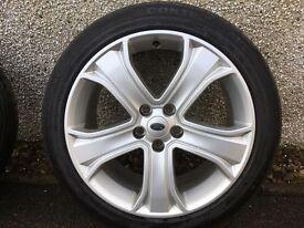 Genuine Range Rover Sport wheels.