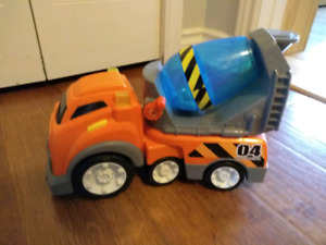 Cement Mixer Truck with Lights and Noises