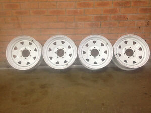 Wheels16x6 Steel White Sunrasia type 6 stud Ideal 4WD Traler ect Tweed Heads South Tweed Heads Area Preview