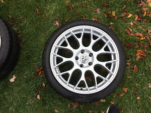 Set of 18 inch replica wheels and tires 5 x 112 fits most VW Oakville / Halton Region Toronto (GTA) image 5