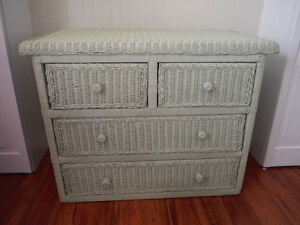 Pier One Wicker Dresser and Desk Set
