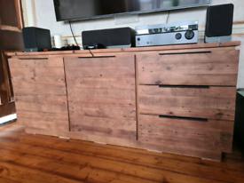 Sideboard/TV unit, reclaimed solid oak