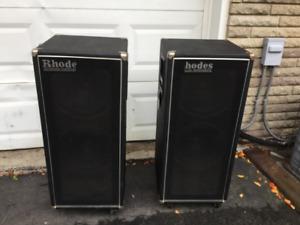 Vintage Pair of Rhodes Janus 1 speakers/amp