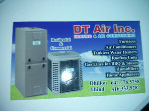 DT AIR INC Furnace,Fireplace,Gas Pipe,Water Heater Install/Repai